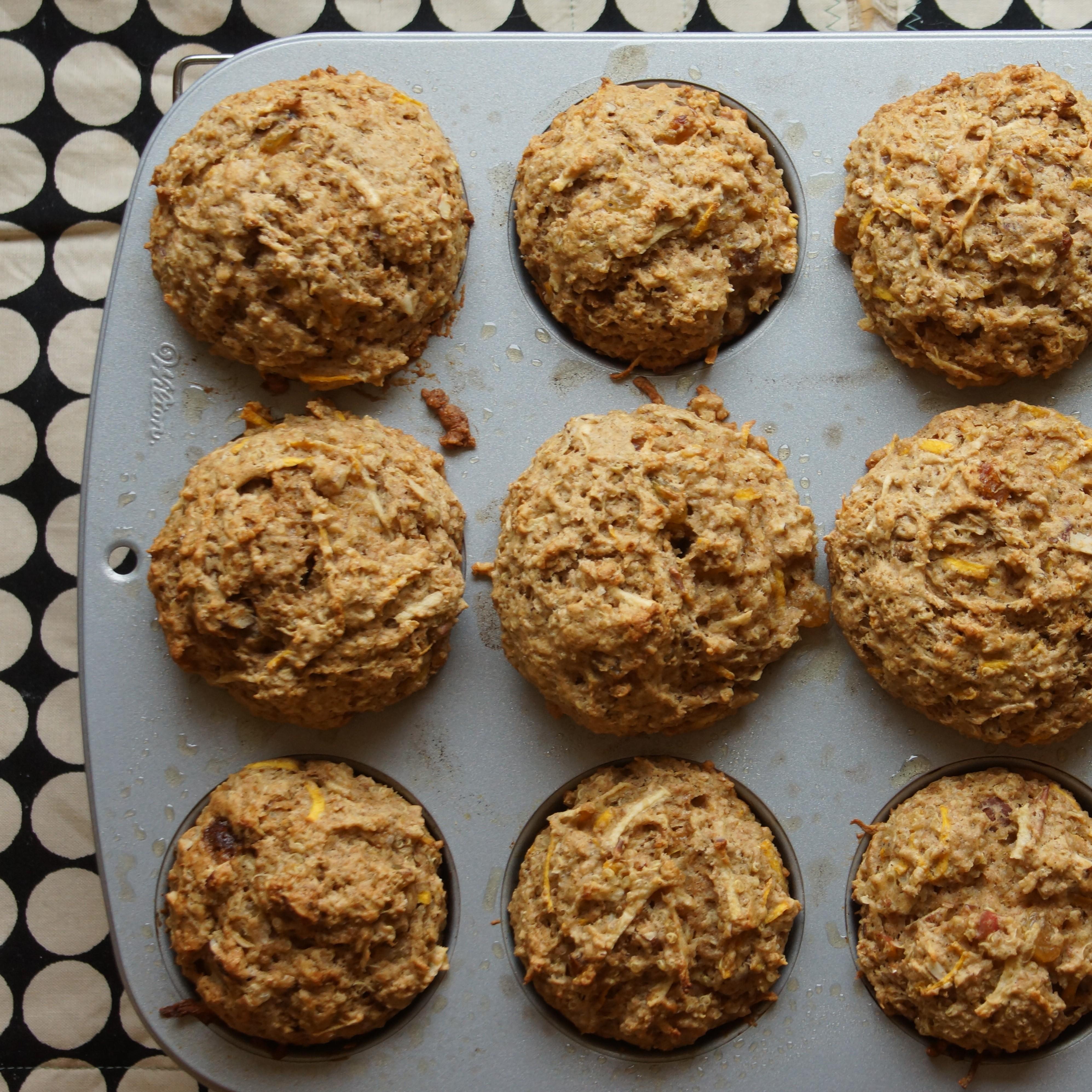 Strawberry-Banana Quinoa Muffins Recipe — Dishmaps