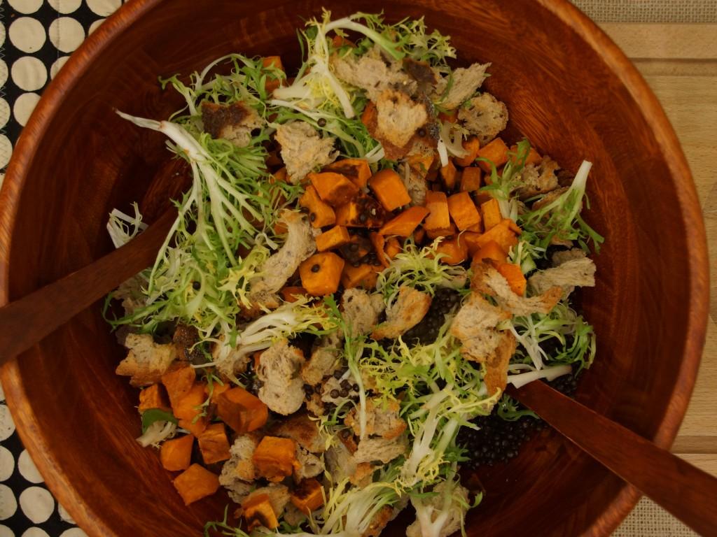 Beluga Lenti & Yam Panzanella Salad