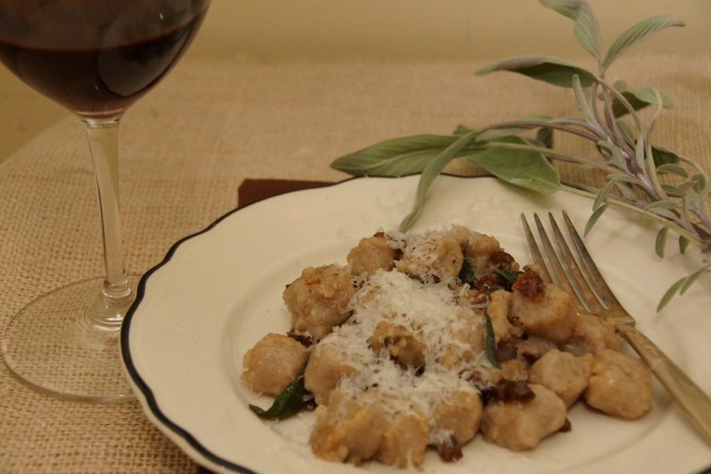 Chestnut & Potato Gnocchi with Sage Brown Butter Sauce