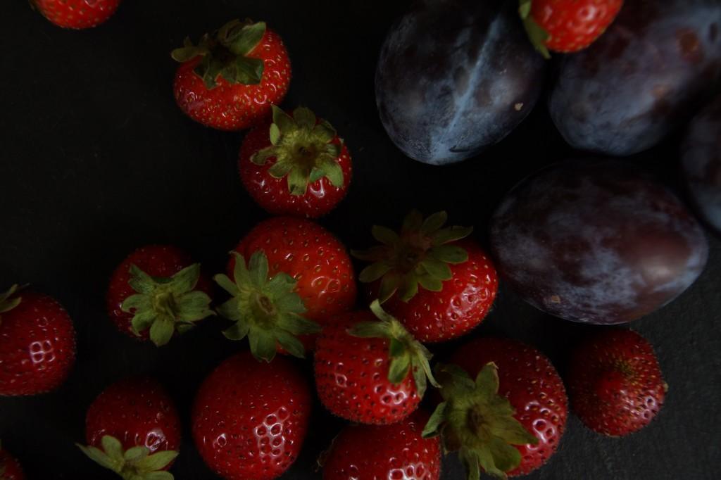 Strawberries & Plums