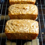 Oatmeal Quick Bread with Scotch-Maple Glaze