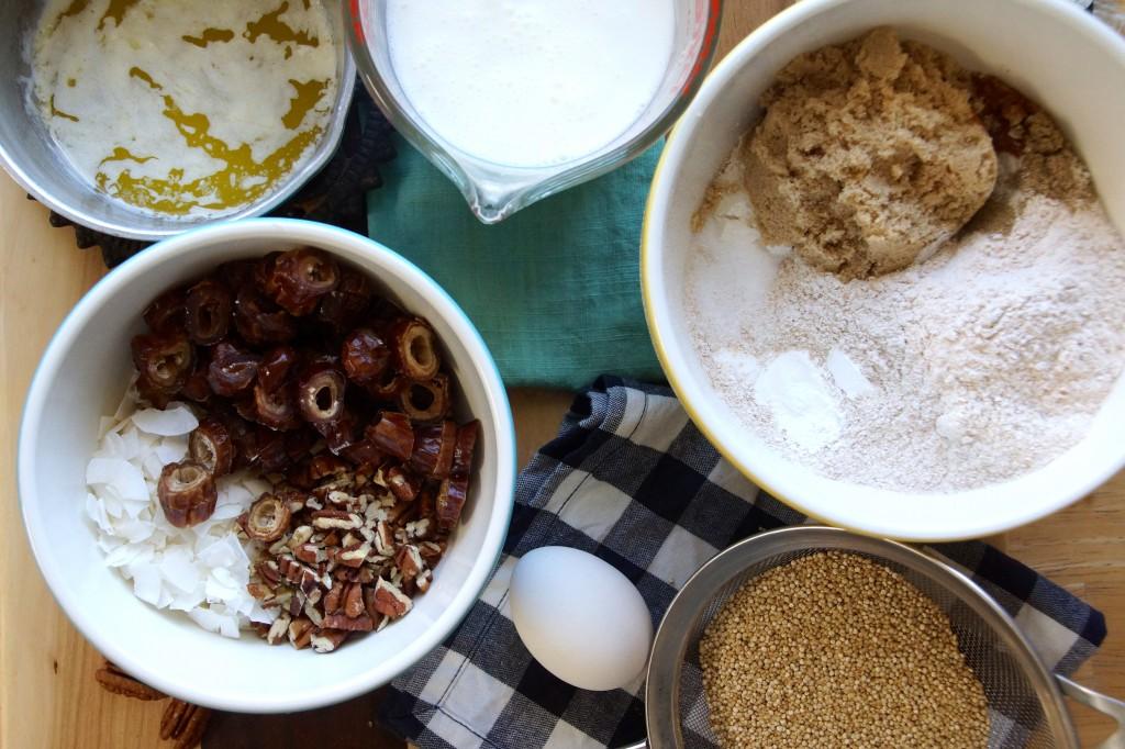 Coconut, Date & Pecan Quinoa Muffins