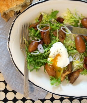 Salade Lyonnaise with Oyster Mushrooms & Potatoes