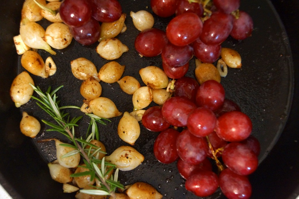 Pearl Onions, Grapes, Rosemary