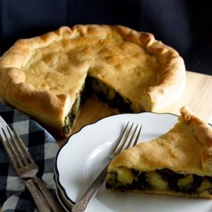 Endive, Potato & Olive Tiella