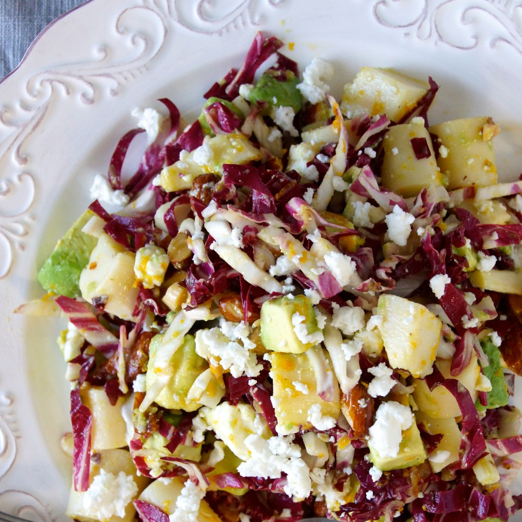 Radicchio, Hearts of Palm & Avocado Salad with Orange Vinaigrette