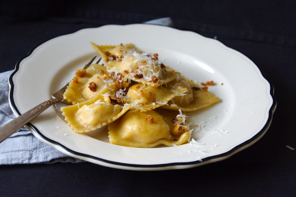Orange-Scented Cauliflower & Ricotta Ravioli