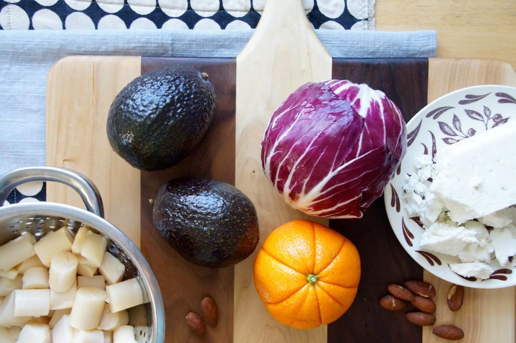 Radicchio, Hearts of Palm & Avocado Salad with Orange Vinaigrette
