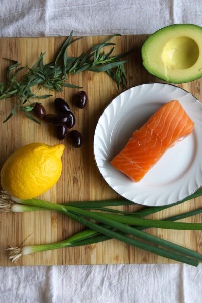 Salmon Tartare with Avocado, Olives & Tarragon