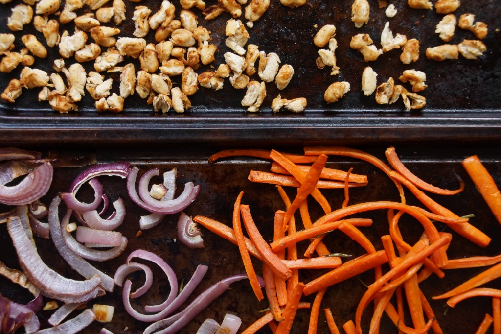 Roasted Carrots, Red Onions & Cannellini Beans