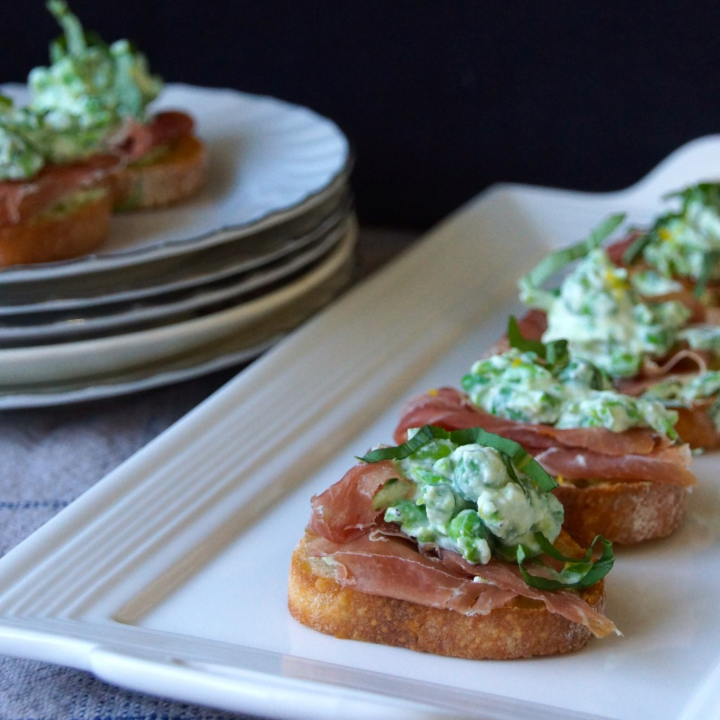 Crostini With Pea Shoots And Strawberries Recipes — Dishmaps