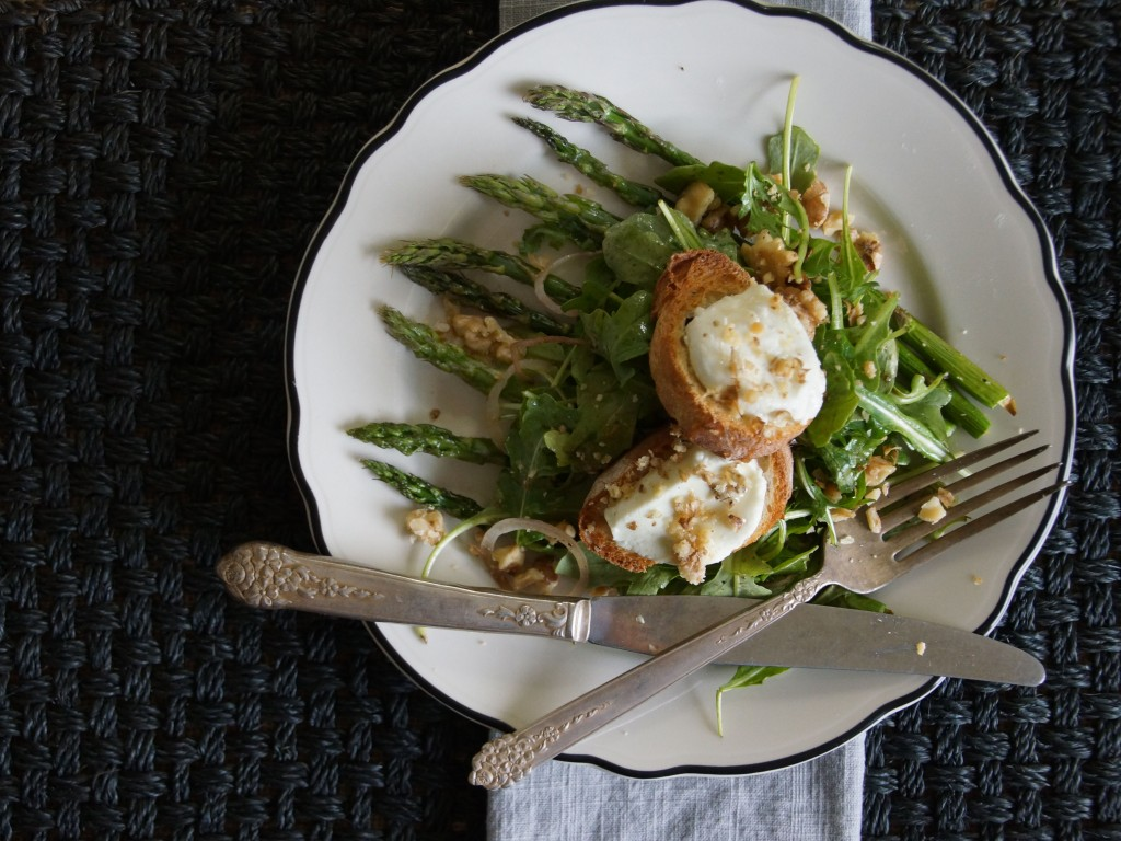 Chèvre Chaud Salad with Roasted Asparagus 2