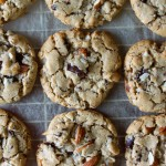 Almond Butter Cookies with Dark Chocolate & Coconut