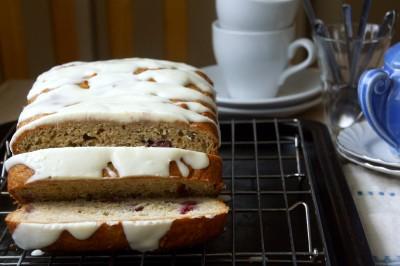 Raspberry-Rhubarb Quick Bread