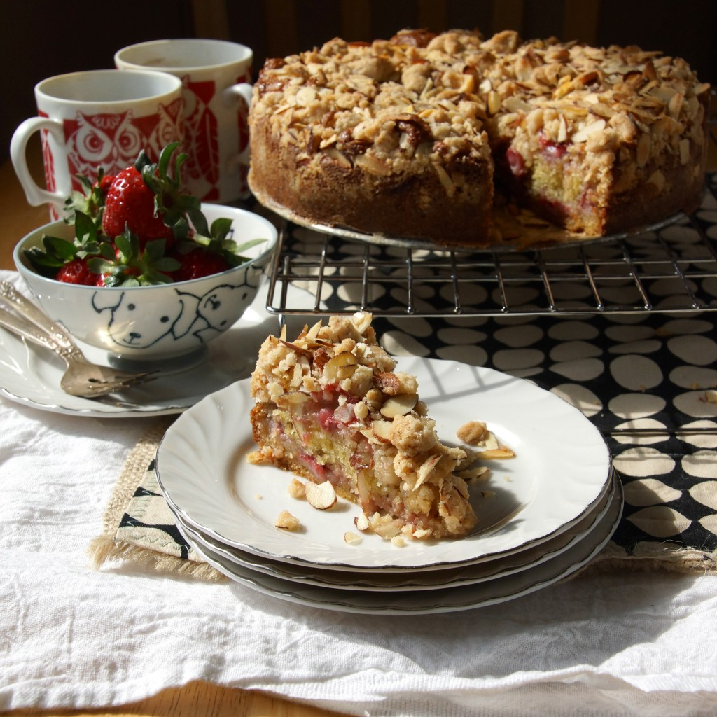 Strawberry Almond Crumb Coffee Cake