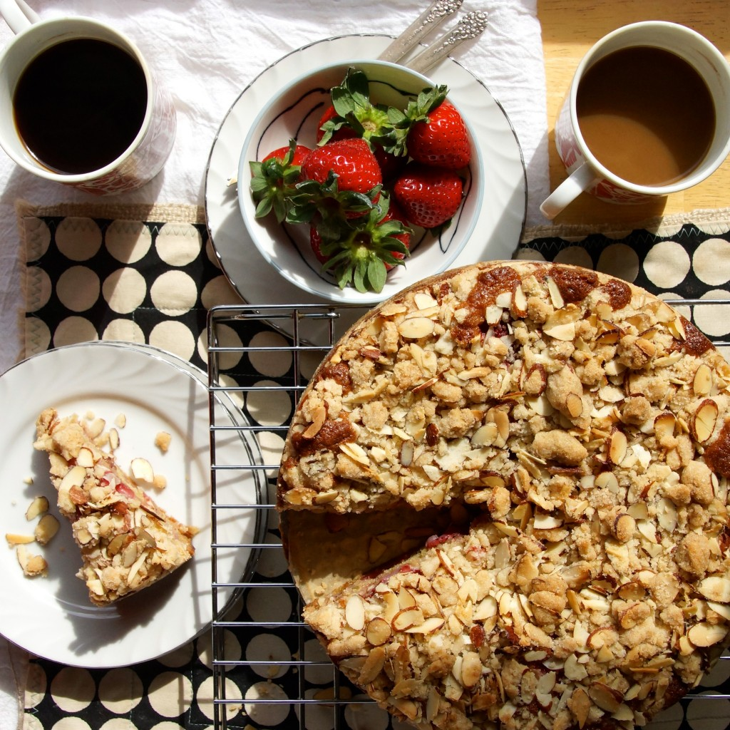Strawberry Almond Crumb Coffeecake