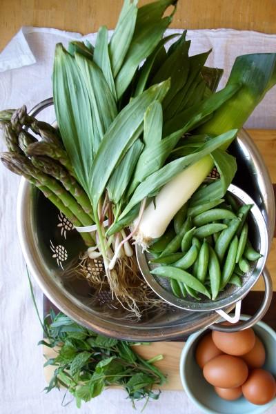 Asparagus, Pea & Ramp Soup