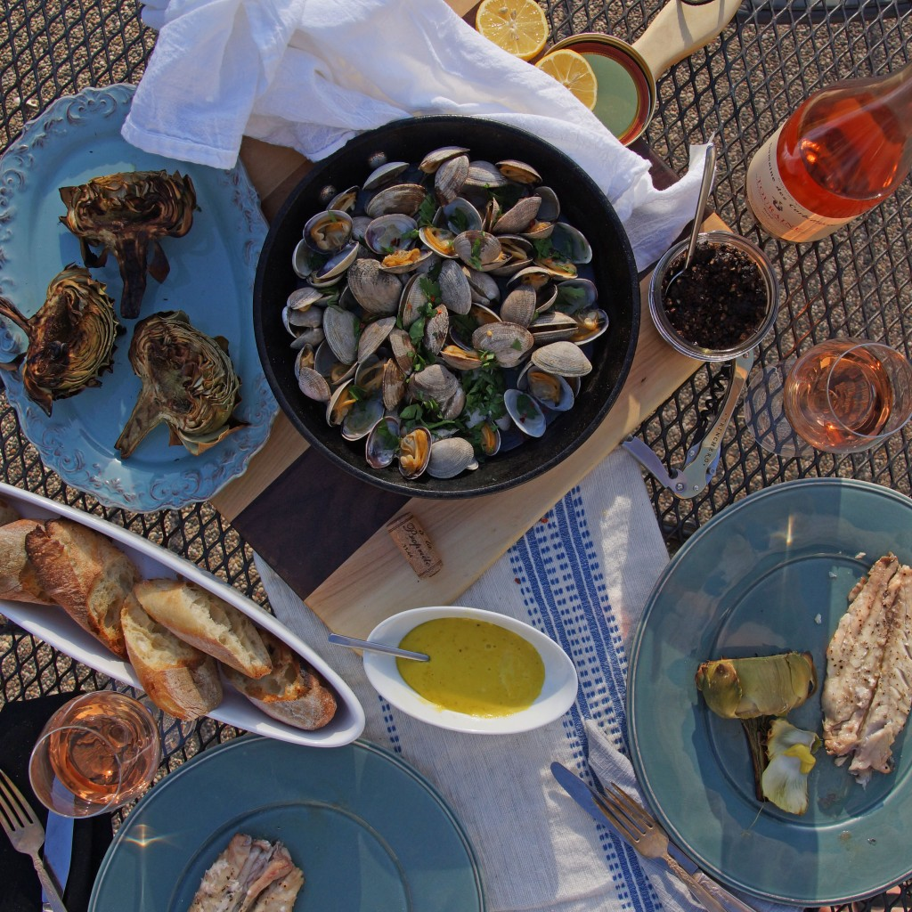 Spring Feast with Grilled Artichokes
