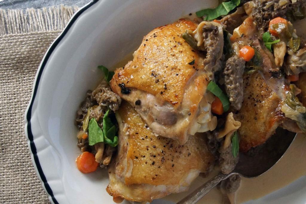 Chicken & Morel Mushroom Fricassée
