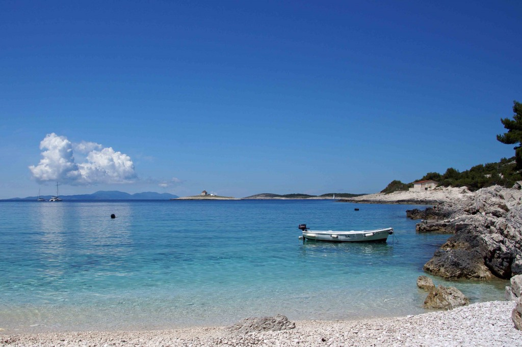 A Beach on Hvar, Croatia