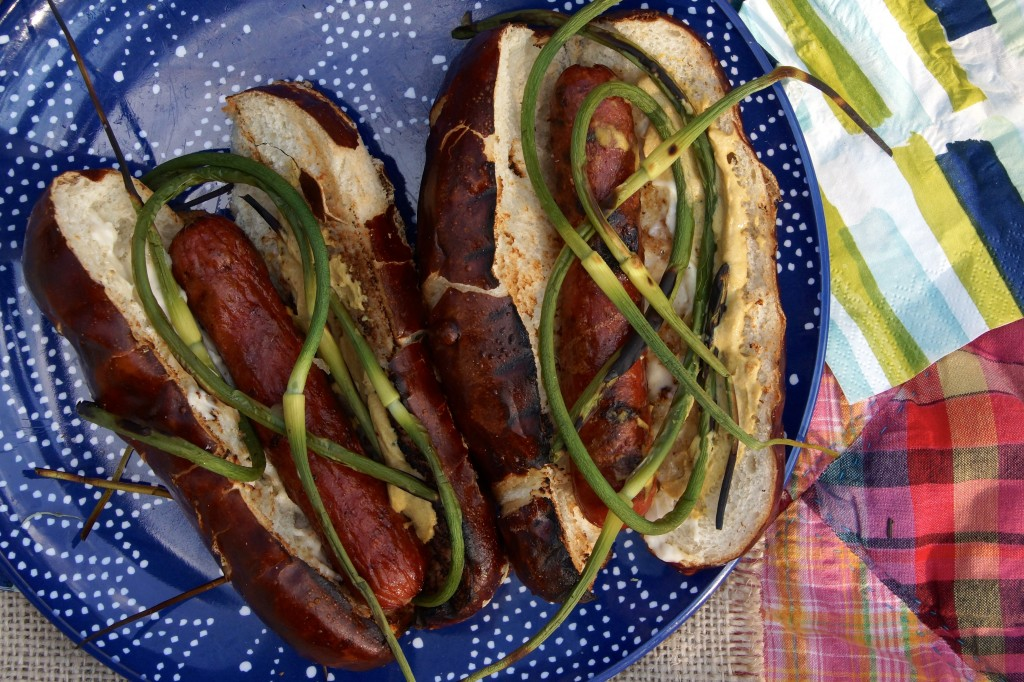 Grilled Garlic Scape Hot Dog