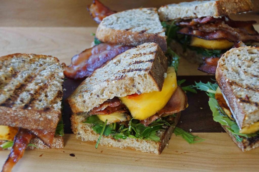 Bacon, Arugula & Nectarine Sandwich