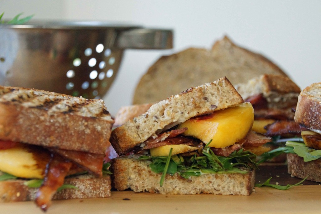 Bacon, Arugula & Nectarine Sandwiches