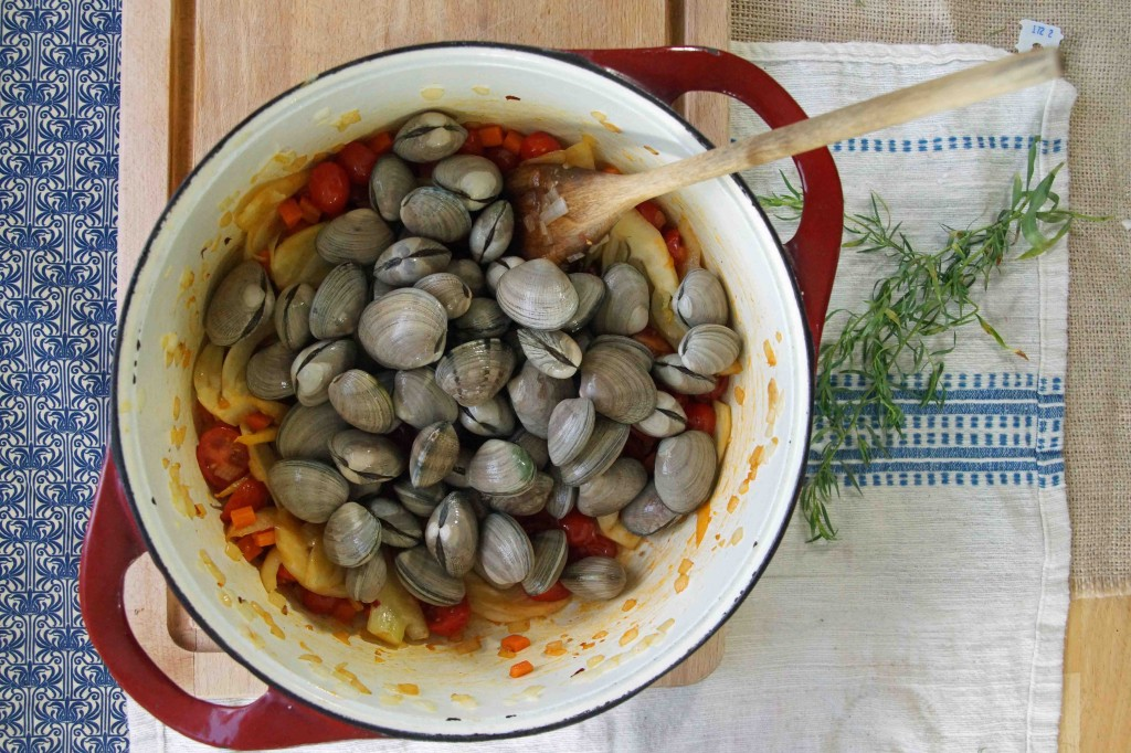 Clams with Fennel & Tomatoes