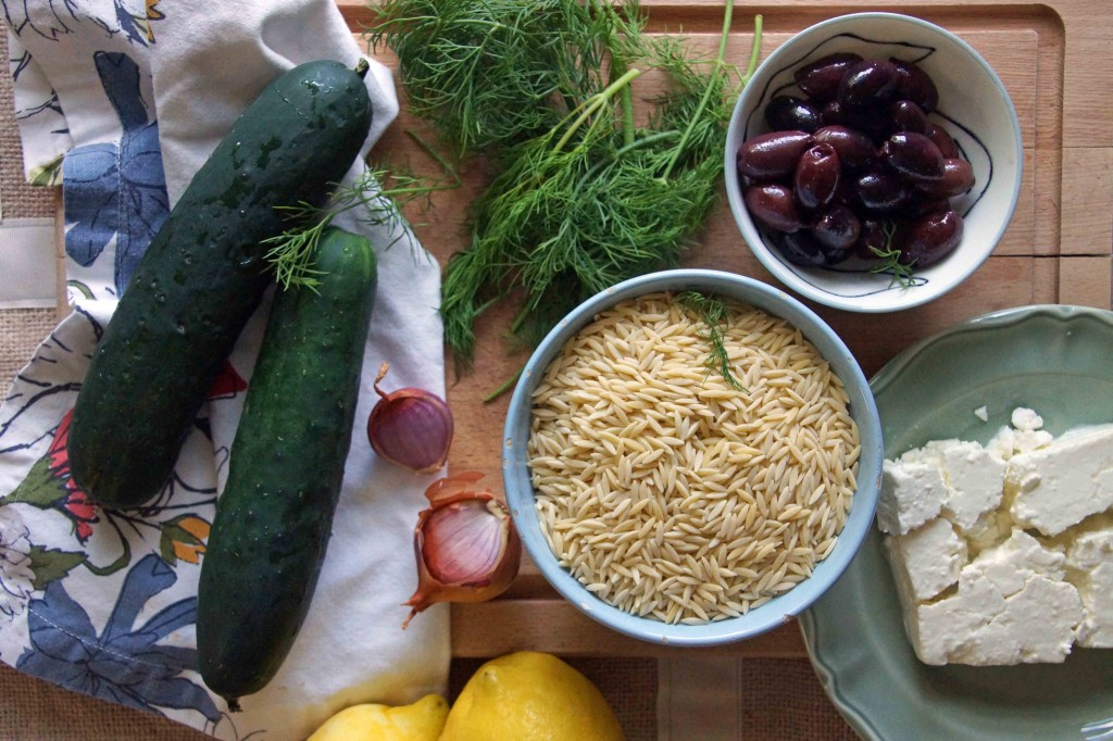 Orzo Pasta Salad Ingredients