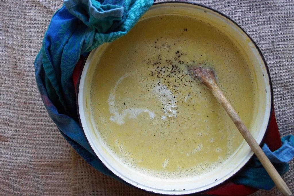 Pureed Sweet Corn Soup