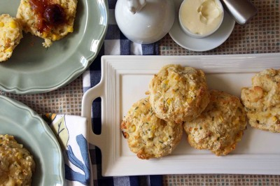 Sweet Corn, Cornmeal & Chive Buttermilk Biscuits