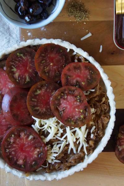 Assembling the Tomato Tart 3