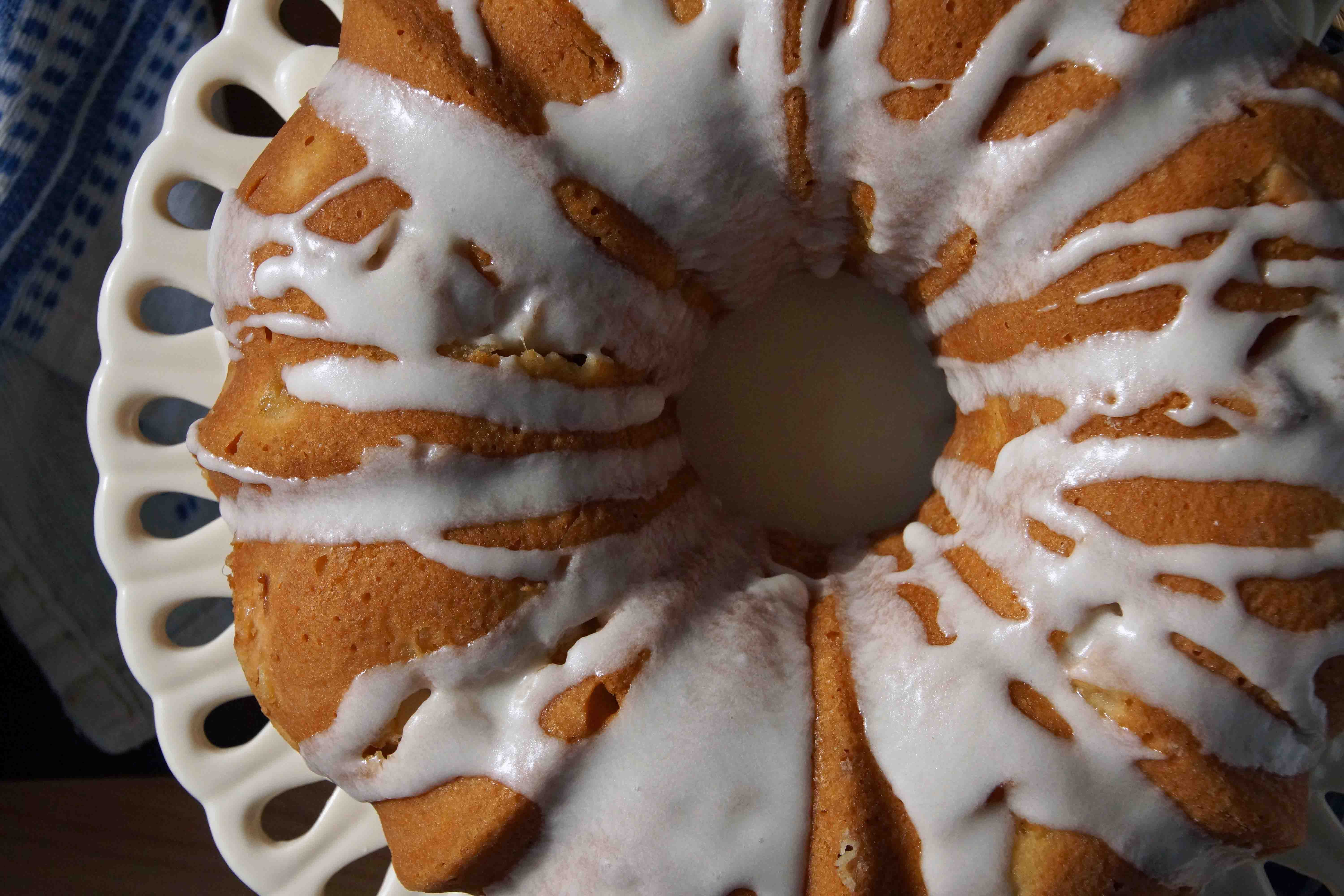 Glazed Peach Bundt Cake