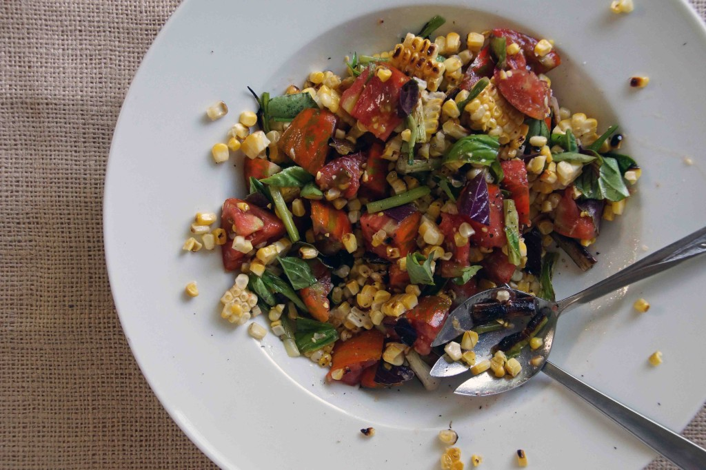 ... tomato and basil sauce grilled corn basil tomato salad recipe yummly