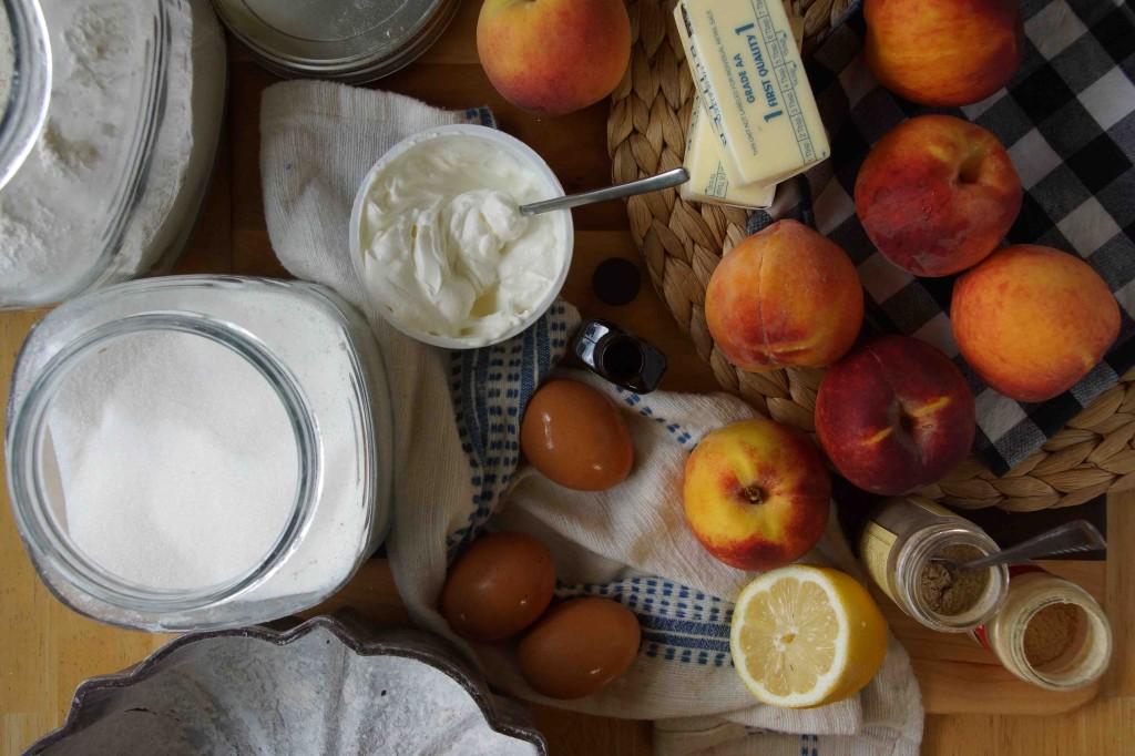 Peach Bundt Cake Ingredients