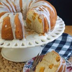 Peach Bundt Cake with Cardamom & Ginger