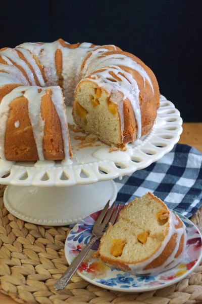 Peach Sour Cream Bundt Cake With Cardamom Amp Ginger
