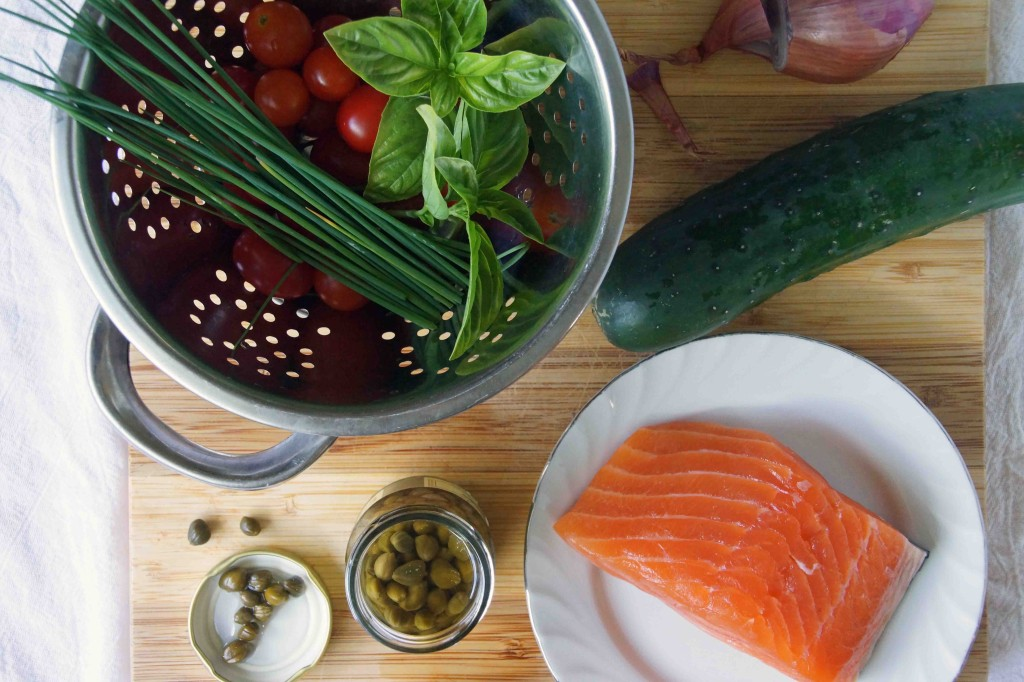 Summer Salmon Tartare Ingredients