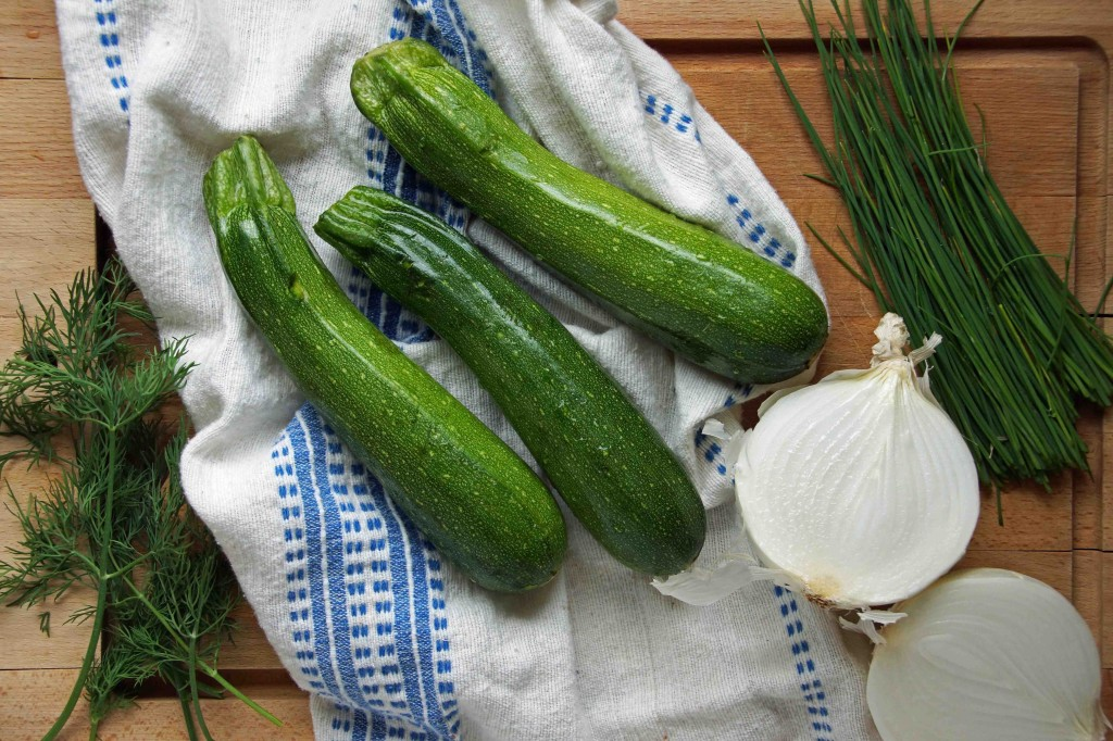 Zucchini Pancake Ingredients 1