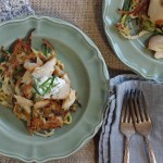 Zucchini Pancakes with Smoked Trout