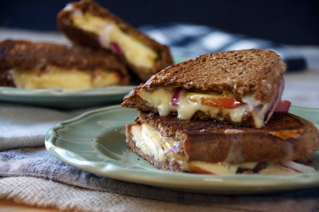 Apple, Onion & Sharp Cheddar Grilled Cheese Sandwich