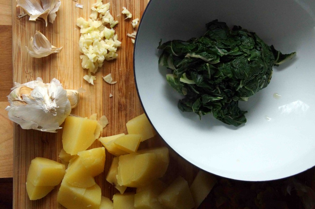 Blanched Chard & Boiled Potatoes