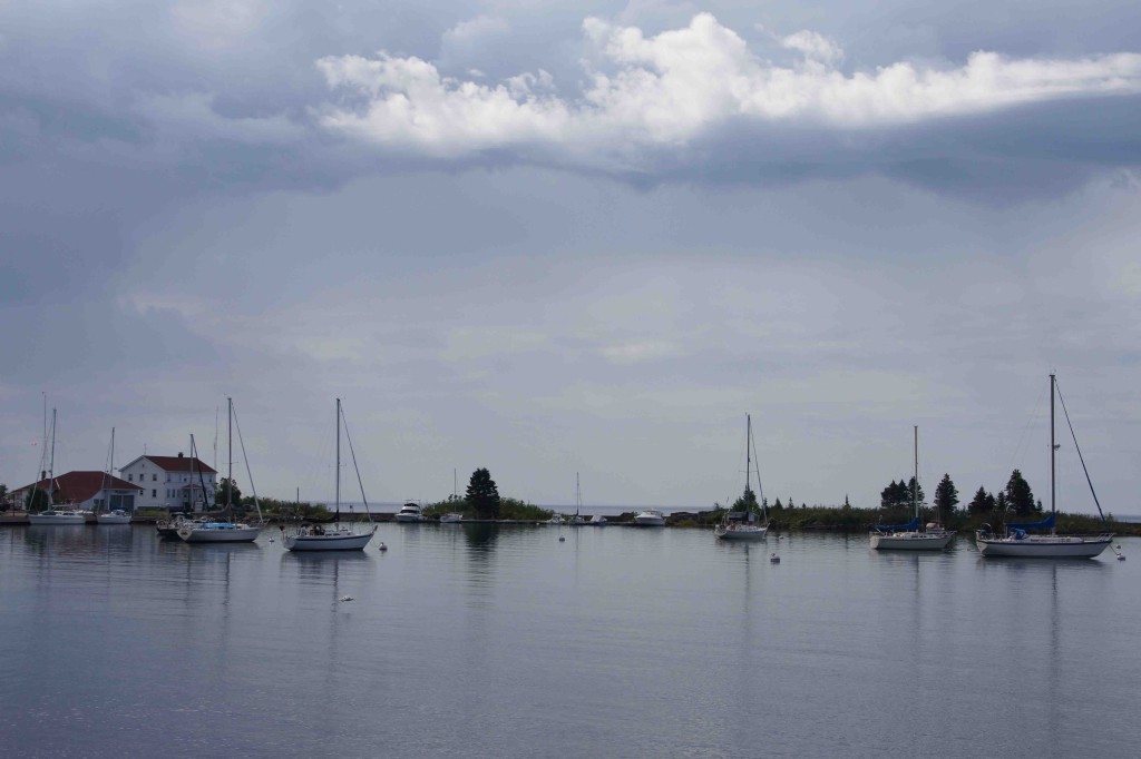 Sailboats in Grand Marais Harbor