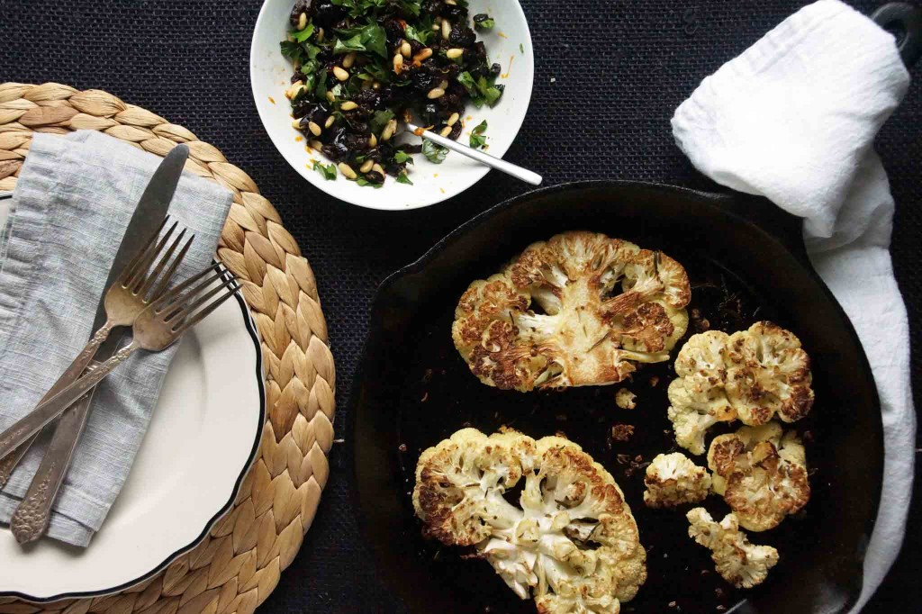Cauliflower Steaks with Gremolata