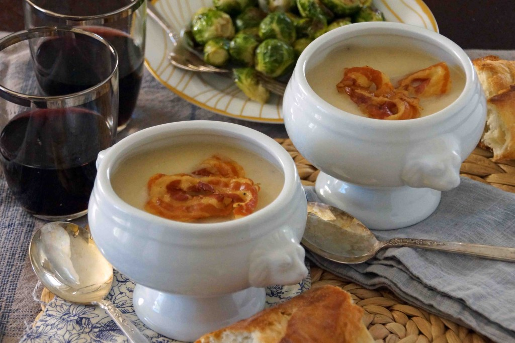 Celery Root & Apple Soup with Crispy Pancetta