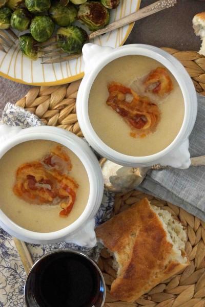 Celery Root & Apple Soup with Crispy Pancetta | strawberryplum