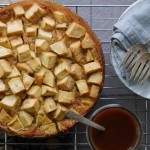 French Apple Cake with Caramel Sauce 2