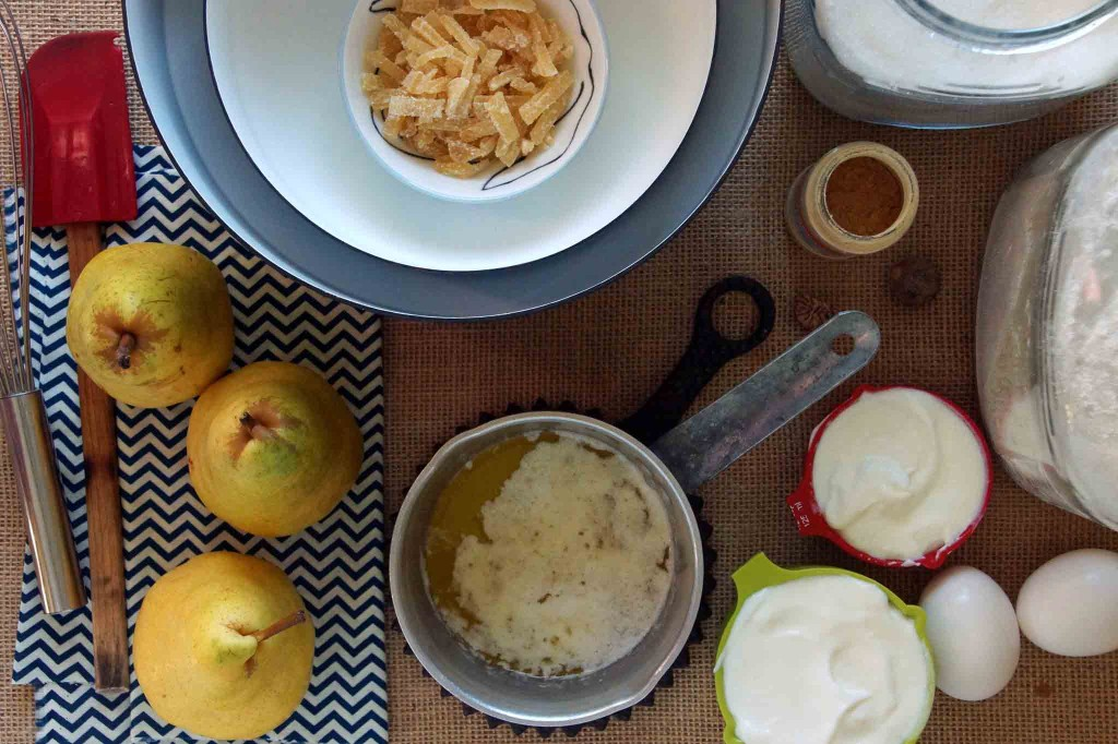 Ginger Pear Muffin Ingredients
