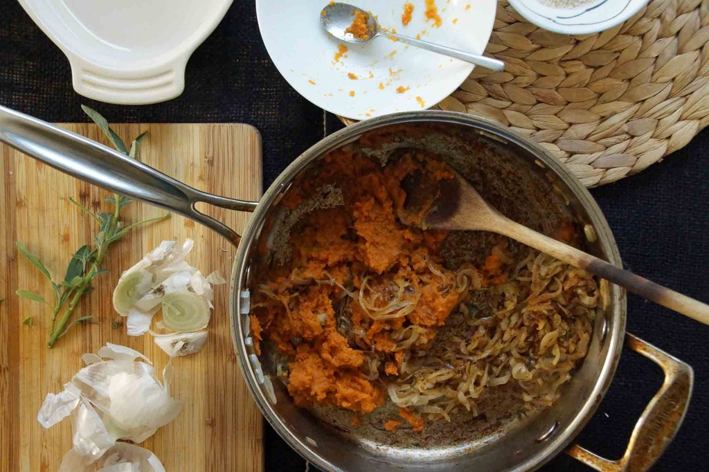 Pumpkin and Caramelize Onions
