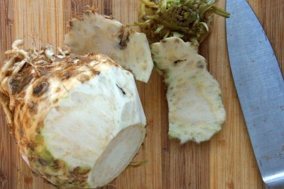 Trimming Celery Root